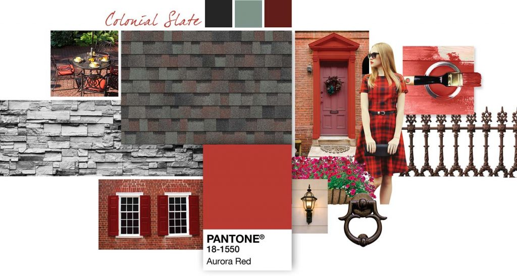 Colonial Slate Designs Aurora Red Shingles - S and S